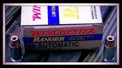 Winchester Ranger T 45 ACP 230gr JHP #RA45T Ballistics Gel Test (HD)