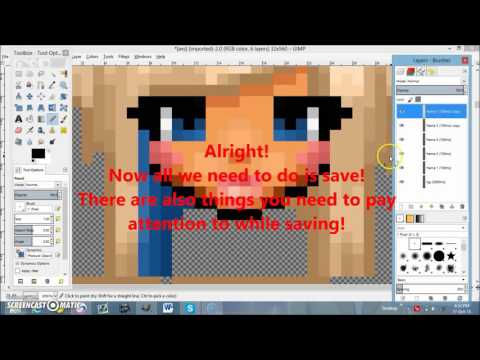 How to make a blinking head using GIMP! (Graal) - YouTube