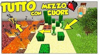 COME SOPRAVVIVERE A OGNI PERICOLO CON MEZZO CUORE! - Minecraft ITA