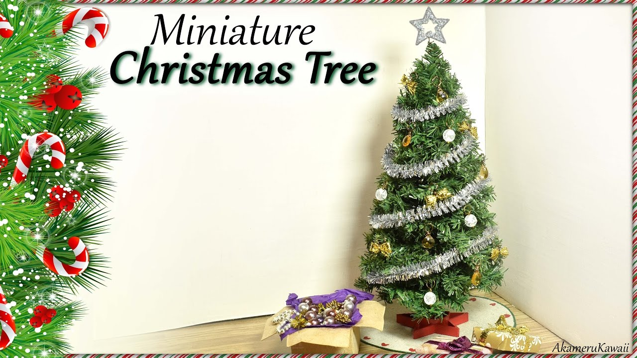 Miniature Christmas Tree   Doll Craft Tutorial   YouTube