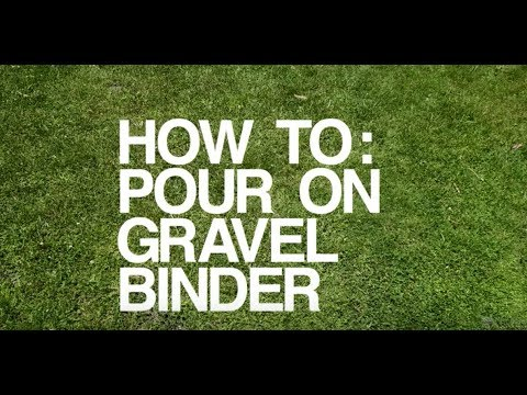 DIY Pour On gravel Binder