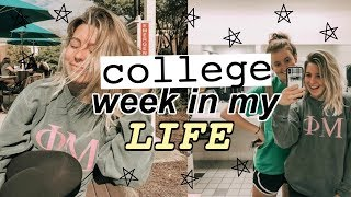 college week in my life | classes, grocery haul, dorm life, mappen!