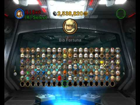 all the lego star wars the clone wars 3 iii characters unlocked hd