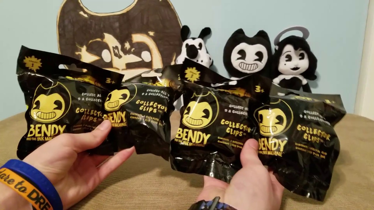 Bendy And The Ink Machine 4 Pack Collector Clips Blind