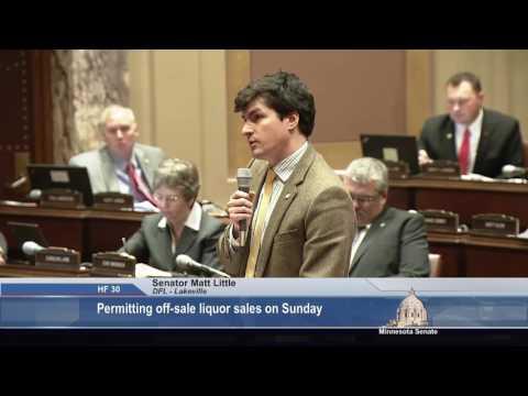 Senator Matt Little (DFL-Lakeville) on Sunday Sales