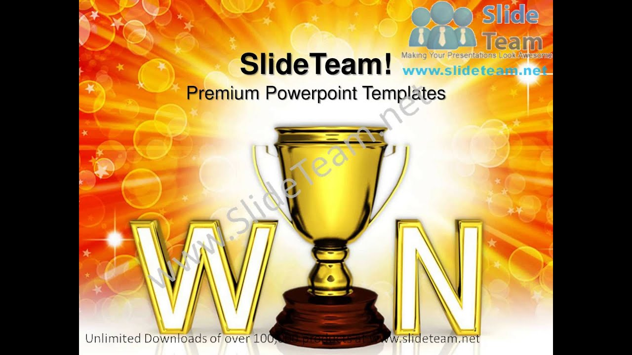 win trophy the award or prize winner competition powerpoint, Powerpoint