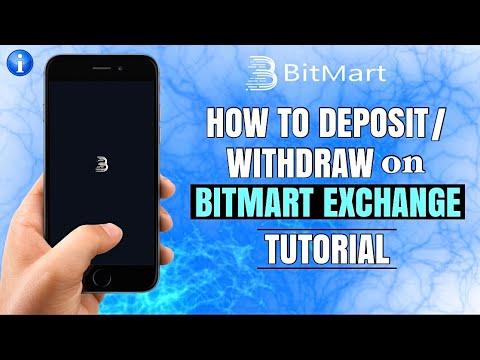 How To DEPOSIT Or WITHDRAW On BitMart Exchange   Bitcoin App Tutorial