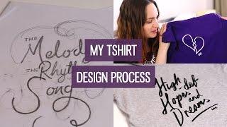 Designing T-shirts (My T-shirt design process) | CharliMarieTV
