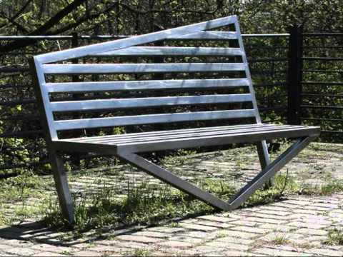 metal garden bench metal outdoor benches youtube. Black Bedroom Furniture Sets. Home Design Ideas