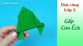 DIY- ORIGAMI FROG || How to make a jumping frog || Liam Channel