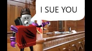 suing people in ROBLOX