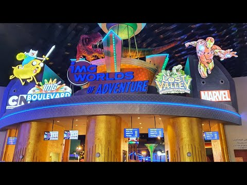 IMG Worlds of Adventures | Largest Indoor Theme Park | Roller Coaster | Haunted Hotel | Marvel | UAE