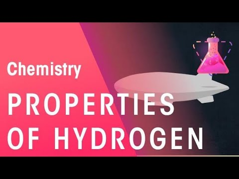 Properties Of Hydrogen Chemistry For All Fuseschool Youtube