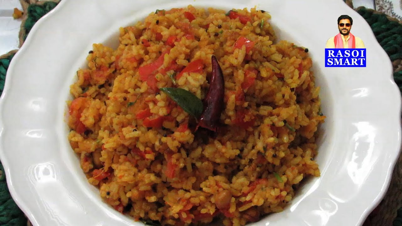 Rice / Mysore style Tomato Rice - Popular South Indian style rice ...