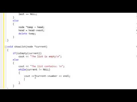 c++-tutorial:-linked-lists,-adding,-removing,-displaying