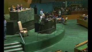 The Queen addresses the United Nations