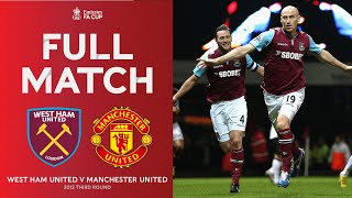 FULL MATCH | West Ham United v Manchester United | Third round 2012-13