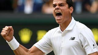 Milos Raonic makes history at Wimbledon