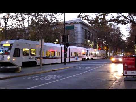 VTA Light Rail @ S 2nd St & W San Fernando St San Jose California Valley Transportation Authority