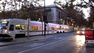 VTA Light Rail @ S 2nd St & W San Fernando St San Jose California Valley Transportation Authority