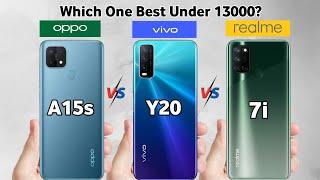 Oppo A15s vs Vivo Y20 vs Realme 7i
