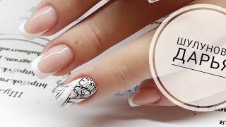 рисуем вензеля  Простой и быстрый дизайн ногтей