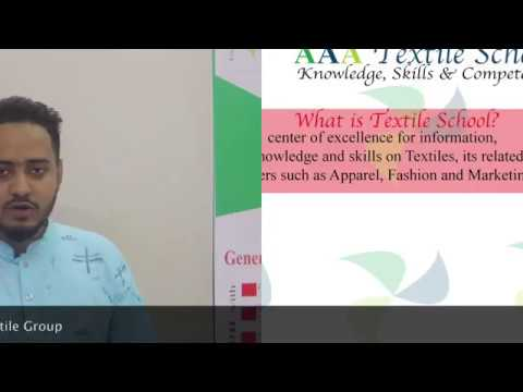 Trainee's Comments on AAA Textile School and AAA Control
