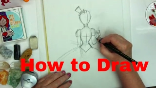 How to Draw in the Steampunk girl for Beginners