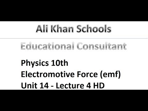 Physics 10th - Electromotive Force (emf) - Unit 14 - Lecture 4 HD