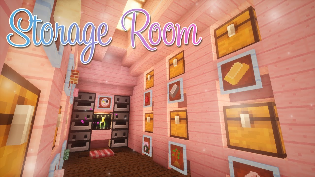 Cute Underground Storage Room ? Minecraft & Cute Underground Storage Room ? Minecraft - YouTube