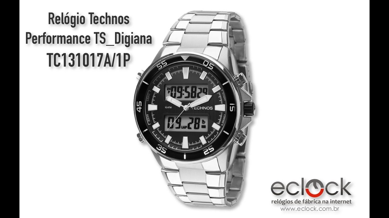 Relógio Technos Masculino Performance TS Digiana TC131017A 1P - Eclock 7601a37823