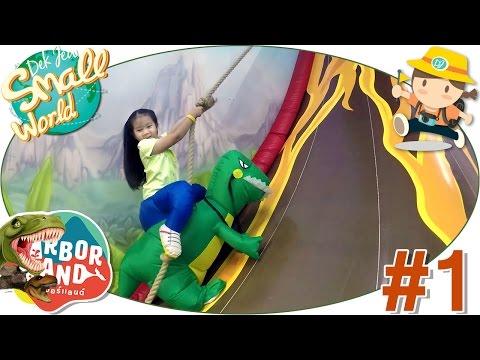 เด็กจิ๋วพาเที่ยวสวนสนุกในร่มเปิดใหม่ชลบุรี Theme Dinosaur (Harbor Land ชลบุรี#1)