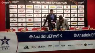 Anadolu Efes - Galatasaray Odeabank Basın Toplantısı
