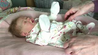 Changing my beautiful silicone baby doll Beatrix into a sleeper for Lupus Awareness and a chat