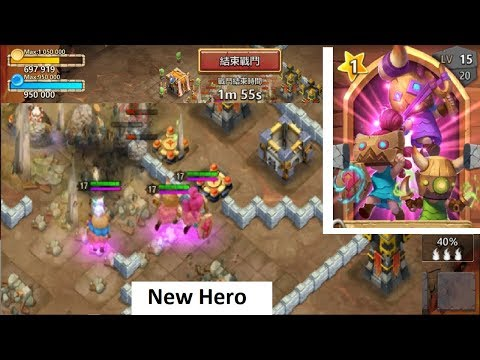 New Hero Trick Or Throw GAMEPLAY Crazy Sheild Proc Castle Clash