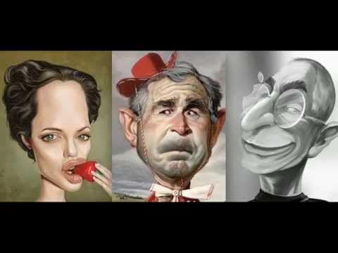 Best funny caricatures compilation 2015 .