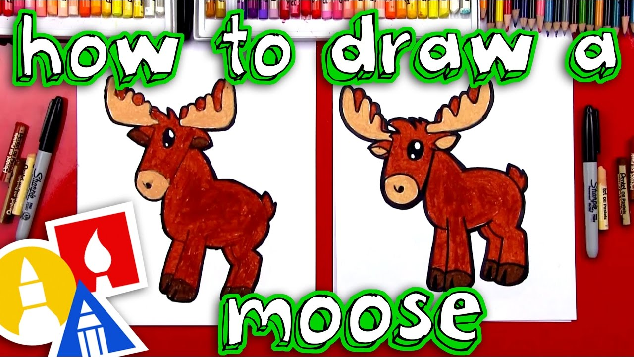 How to draw a cartoon moose youtube for How to draw a moos