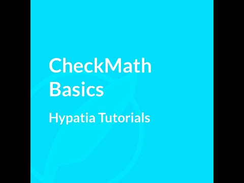 Tutorial   CheckMath basics