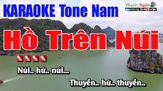 Hồ Trên Núi Karaoke || Tone Nam - Nhạc Sống Thanh Ngân