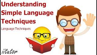 √ Understanding Simple Language Techniques   English