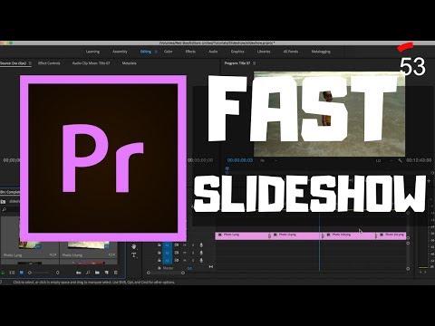 Create Fast Slideshow In Premiere Pro (1 minute Guide!) - Editors United