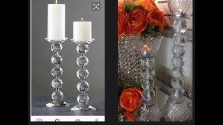 DIY/ Affordable Re-Creation Series/ Crystal Orb Pillar Holder