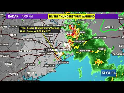 Houston Weather: Strong Storms Moving Through Southeast Texas