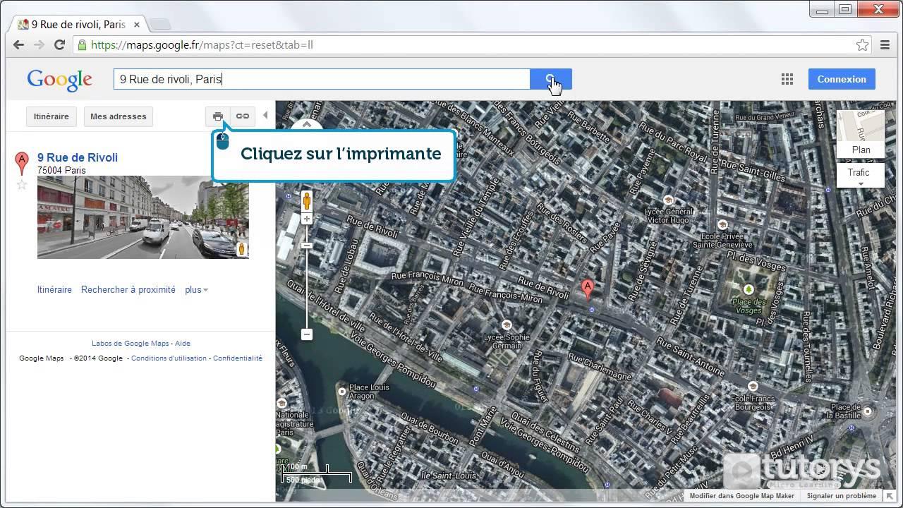 comment imprimer un plan avec google maps