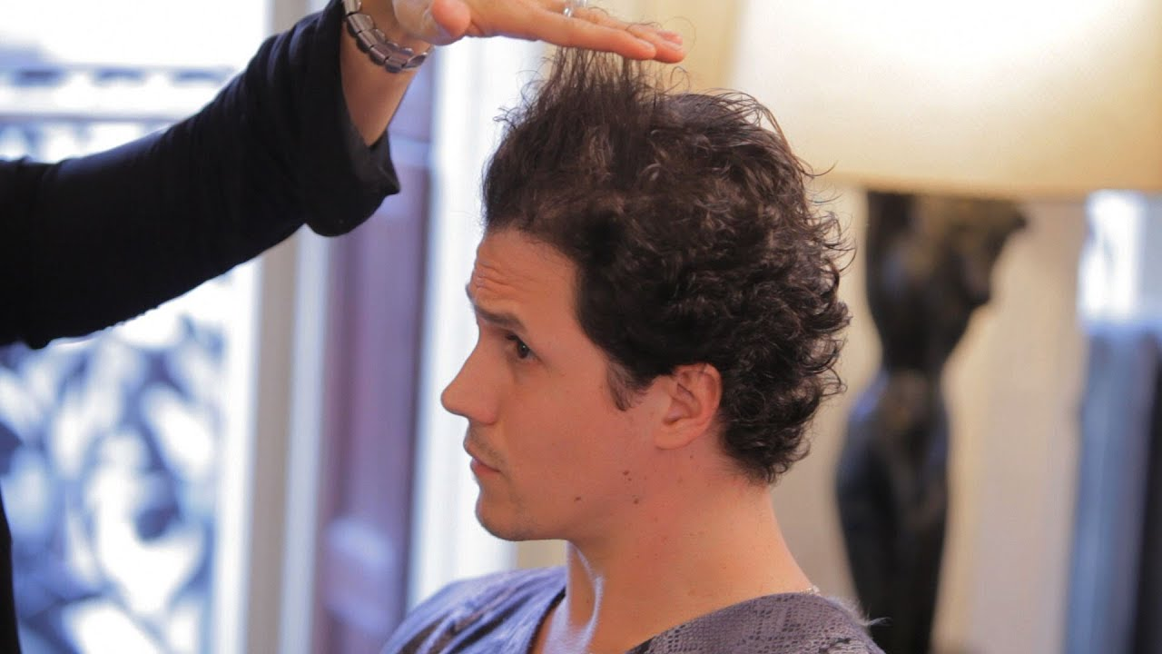 manage curly hair men's