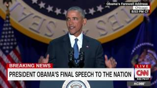 "President Obama's final ""Yes We Can"" to conclude Farewell Address"
