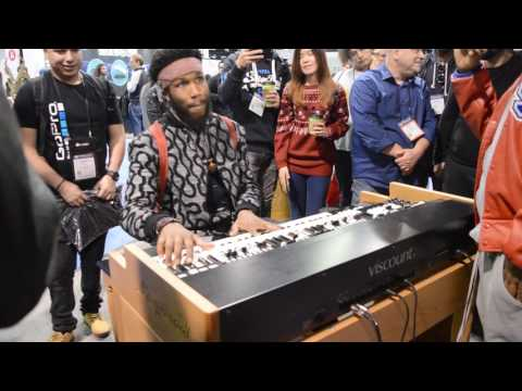 Cory Henry plays the new Viscount Legend at Namm 2017