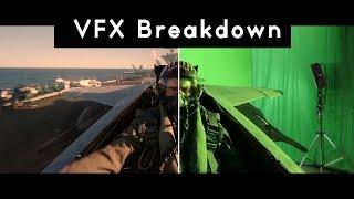 VFX Breakdown  - Top Gun 2 - Fly Jet Scene with Tom Cruise done in Greenscreen (?)