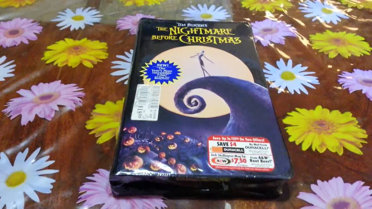 Tim Burton\'S The Nightmare Before Christmas VHS New And Factory ...