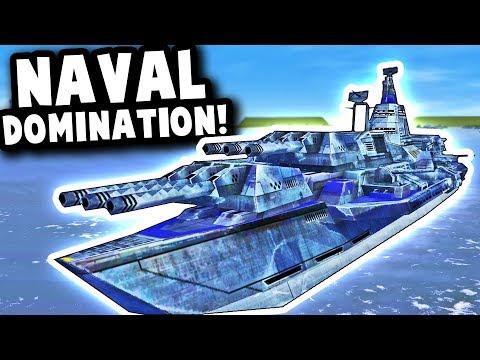 MASSIVE NAVAL BATTLE W/ FUTURISTIC NAVY SHIPS! | Supreme Commander Forged Alliance Mod Gameplay